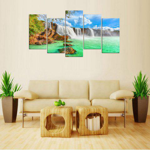 Online MailingArt FIV638  5 Panels Landscape Wall Art Painting Home Decor Canvas Print