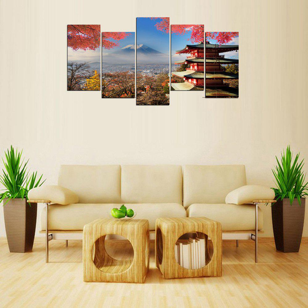 New MailingArt FIV369  5 Panels Landscape Wall Art Painting Home Decor Canvas Print