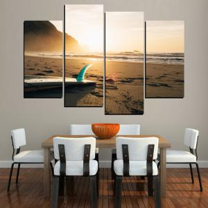 MailingArt FIV644  4 Panels Landscape Wall Art Painting Home Decor Canvas Print -