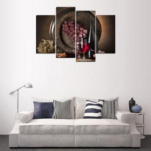 MailingArt FIV646  4 Panels Wine Case Wall Art Painting Home Decor Canvas Print -
