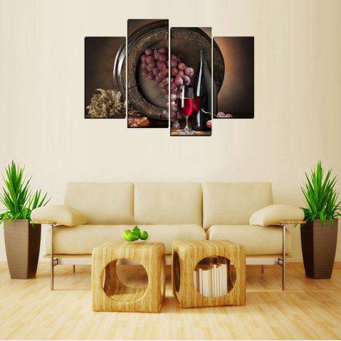 Hot MailingArt FIV646  4 Panels Wine Case Wall Art Painting Home Decor Canvas Print