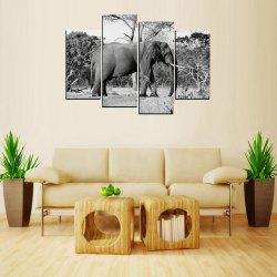 MailingArt FIV649  5 Panels Animal Wall Art Painting Home Decor Canvas Print -
