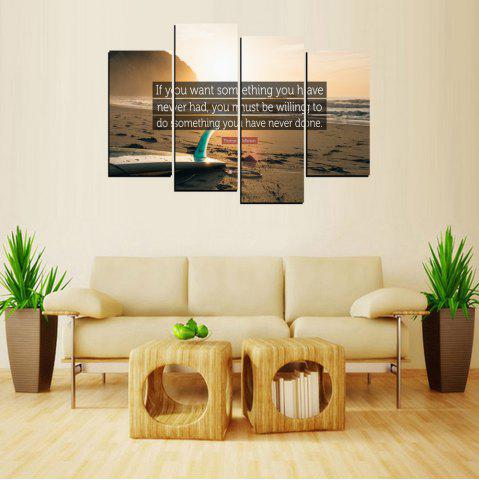Latest MailingArt FIV651  4 Panels Sport Wall Art Painting Home Decor Canvas Print