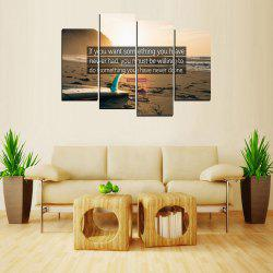 MailingArt FIV651  4 Panels Sport Wall Art Painting Home Decor Canvas Print -