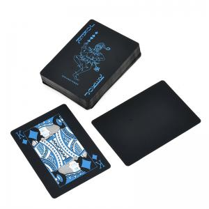 Creative Black Plastic PVC Poker Waterproof Magic Playing Cards Table Game Sets 54pcs -