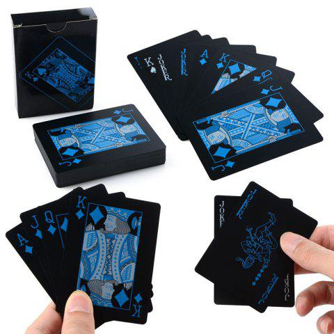Store Creative Black Plastic PVC Poker Waterproof Magic Playing Cards Table Game Sets 54pcs