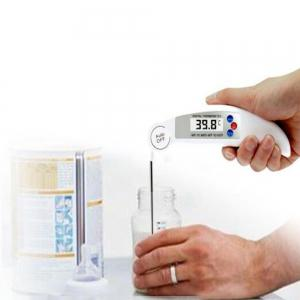 Foldable Dust Probe Kitchen Food Thermometer -