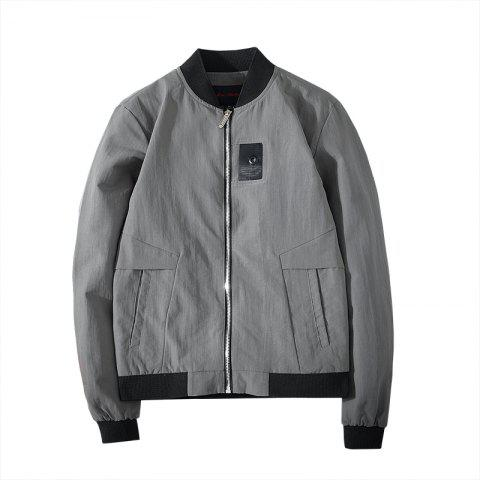 Affordable Badge Patched Baseball Jacket