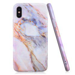 Luxury Marble Stone Pattern Slim Fit Soft Tpu Mobile Phone Case Cover Coque for iPhone X -