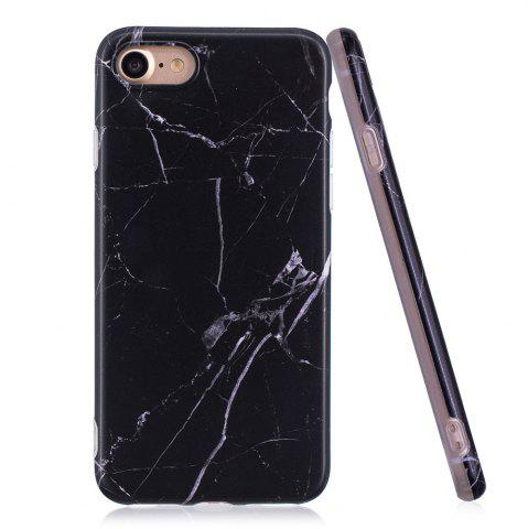 Chic Luxury Marble Stone Pattern Slim Fit Soft Tpu Mobile Phone Case Cover Coque for iPhone 7 - Black