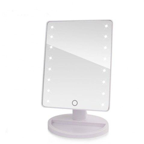 New LED Touch Screen Makeup Mirror Professional Vanity with 16 Lights Health Beauty Adjustable Countertop 360 Rotating