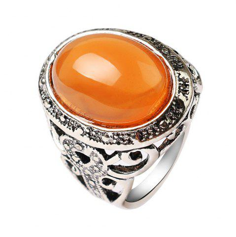 Trendy Stylish Personality Simple Yellow Emerald Ring Men Woman