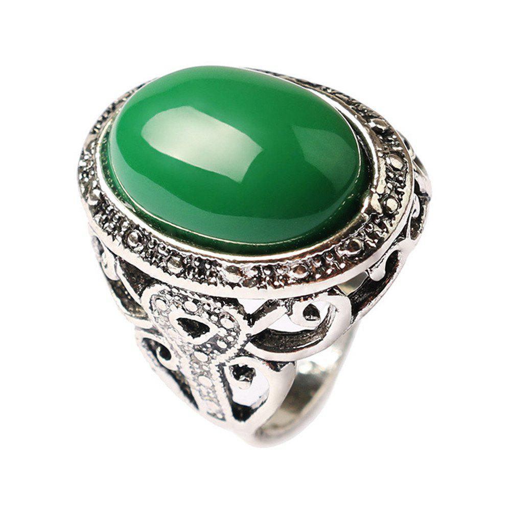 Shops Stylish Personality Simple Yellow Emerald Ring Men Woman