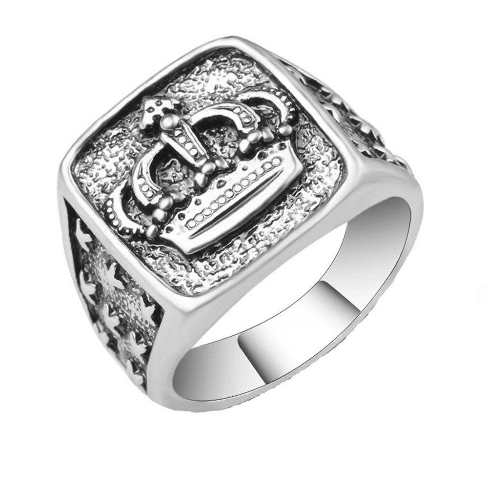 Hot Fashion Personality Simple Crown Ring Woman Men