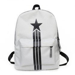 Large Capacity Simple Canvas Backpack -