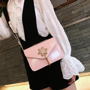 Snowflake Lock Small Tassel Shoulder Slanted Chain Bag -