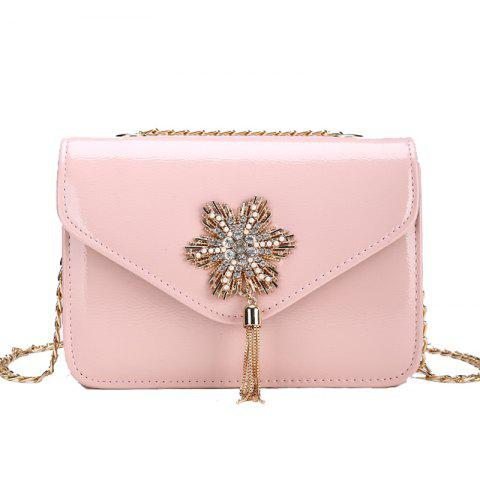 Store Snowflake Lock Small Tassel Shoulder Slanted Chain Bag