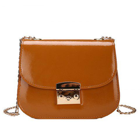 Store Chain Lock with Bright Face Slanted Shoulder Bag