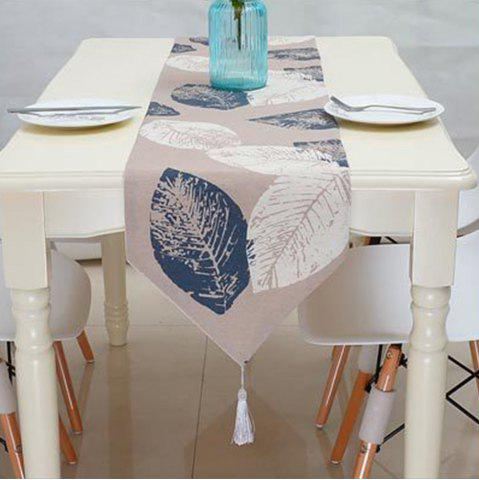 Fancy Modern Minimalist and Linen Printed Table Runner Flag