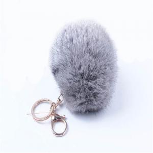 Cartoon Hairball Rabbit Pendant Keychain -
