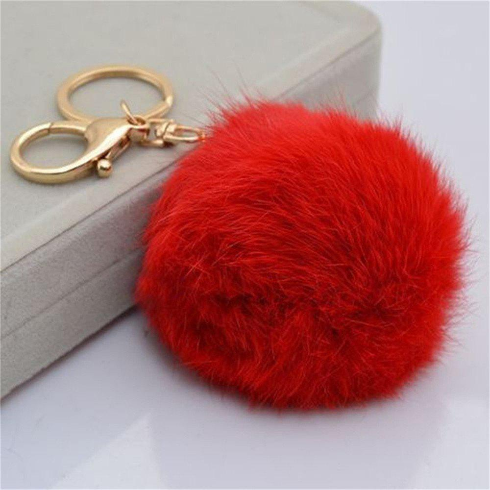 Outfit Cartoon Hairball Rabbit Pendant Keychain