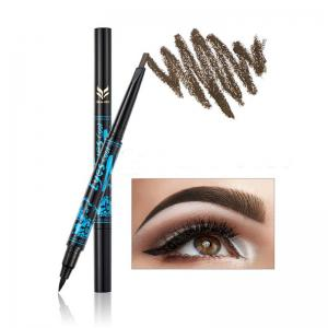 HUAMIANLI Long-lasting Waterproof Doulble-end Eyebrow Eyeliner 2 in 1 Pencil Makeup Cosmetic Tools -