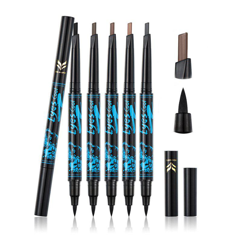 Affordable HUAMIANLI Long-lasting Waterproof Doulble-end Eyebrow Eyeliner 2 in 1 Pencil Makeup Cosmetic Tools