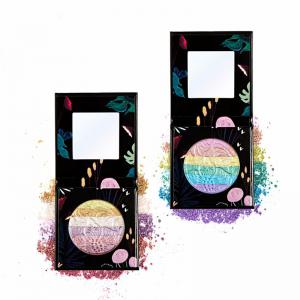 HUAMIANLI Rainbow Highlighter Blush Face Pressed Eyeshadow Powder Palette Make Up Cosmetics -