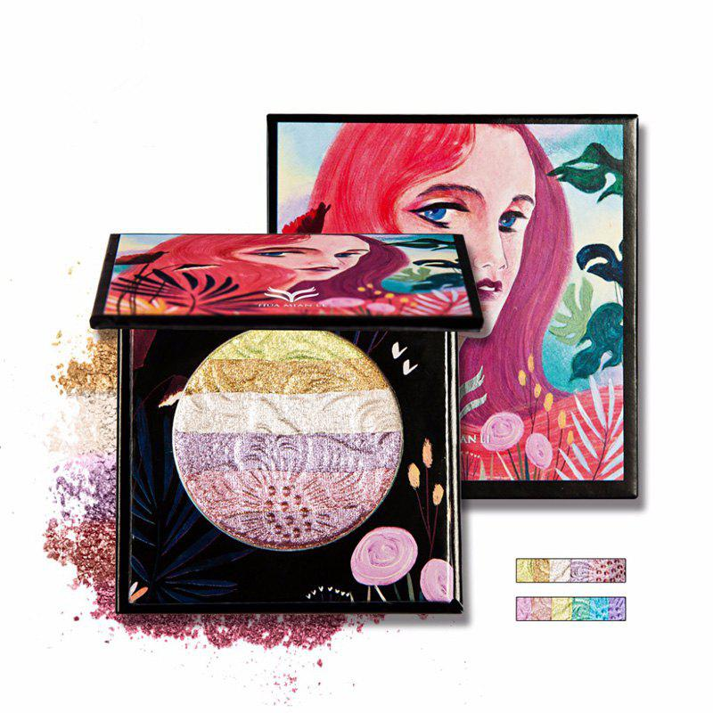 HUAMIANLI Rainbow Highlighter Blush Face Pressed Eyeshadow Powder Palette Make Up Cosmetics
