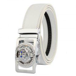 ZHAXIN 801 Wolf Head Clasp Automatically Fashion Man's Leather Belt -