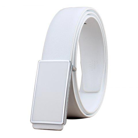 Shop ZHAXIN 898 Man Simple Metal Frame Smooth Clasp Leisure Belt