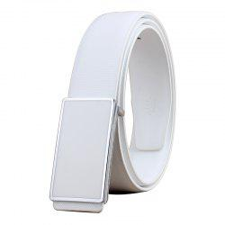ZHAXIN 898 Man Simple Metal Frame Smooth Clasp Leisure Belt -