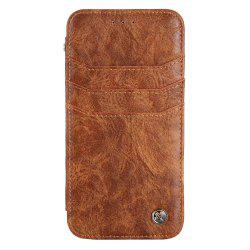For iphone7 / 8 Vintage Wallet Genuine Leather Case Flip Book Phone Bag Cover with Card Holder -