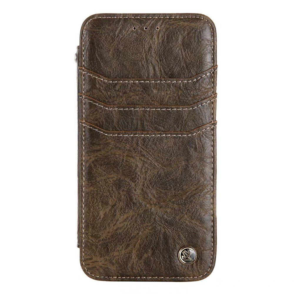 Discount For iphone7 / 8 Vintage Wallet Genuine Leather Case Flip Book Phone Bag Cover with Card Holder