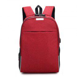 Anti-Theft Backpack Smart USB Charging Shoulder Bag Cloth Notebook -