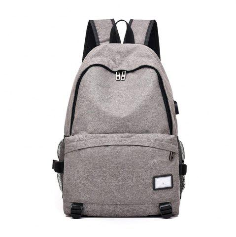 Latest Simple Canvas Backpack Student Bag