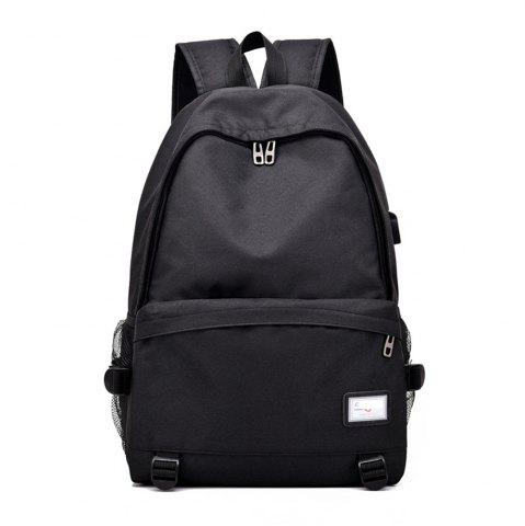 Outfit Simple Canvas Backpack Student Bag