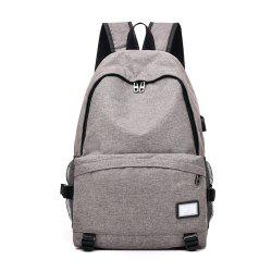 Simple Canvas Backpack Student Bag -
