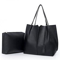 Wild Two Pieces of Simple Handbag Pu Package -