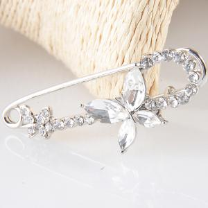 Crystal Pins Rhinestone Brooch For Women Kids Jacket T-shirt Bag Pin Badge Cute Jewelry -