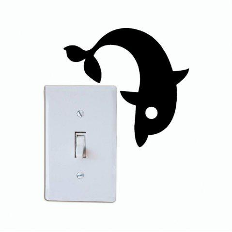 Shops DSU Cute Dolphin Switch Sticker Creative Cartoon Animal Vinyl Wall Sticker for Kids Room
