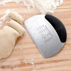 Non Slip Grip Multifunction Stainless Steel Pastry Scraper and Chopper -