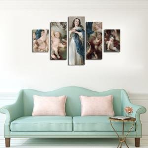 QiaoJiaHuaYuan No Frame Canvas Print of the Living Room Sofa in Europe and America 5Pcs -