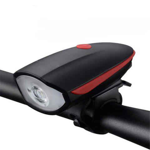 Fancy Multifunction Waterproof Bike Head Light LED USB Charging Flashlight with Bell Speaker Bicycle Accessories