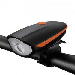Multifunction Waterproof Bike Head Light LED USB Charging Flashlight with Bell Speaker Bicycle Accessories -