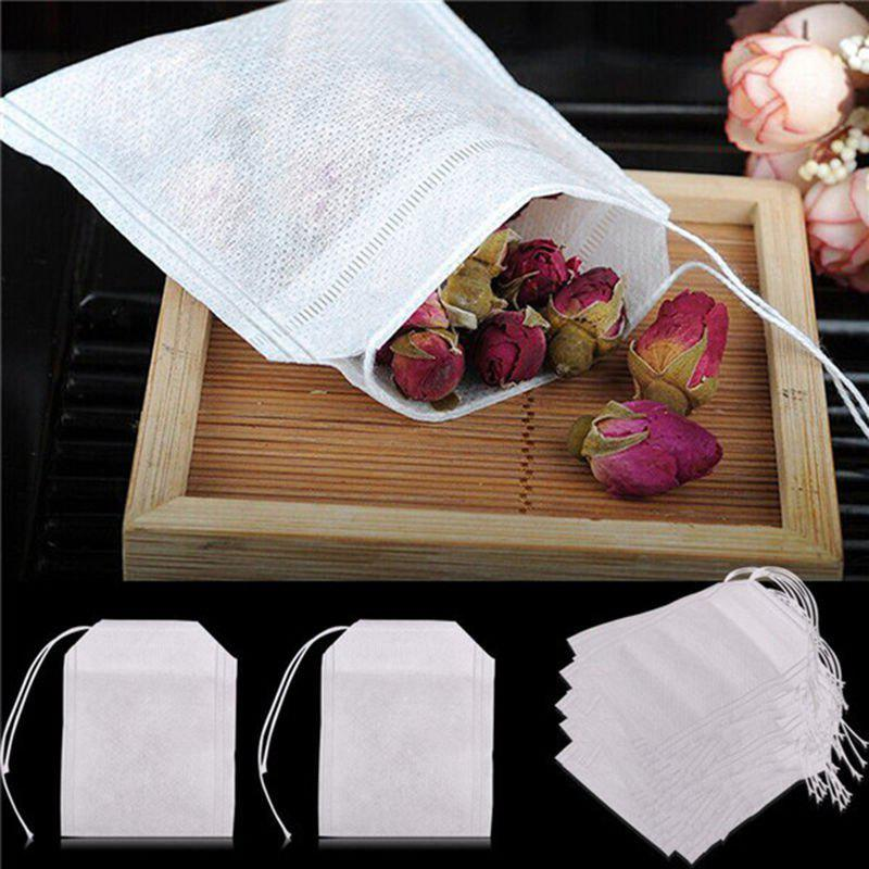 Online 100pcs/Lot New Non-Woven Fabrics Empty Tea Bag with String Heal Filter Paper