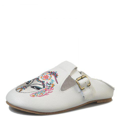 Shop Round Head Lazy with Flat Shoes