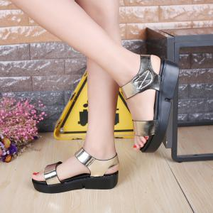 Summer Comfortable Flat Thick Bottom Velcro Joker Sandals -