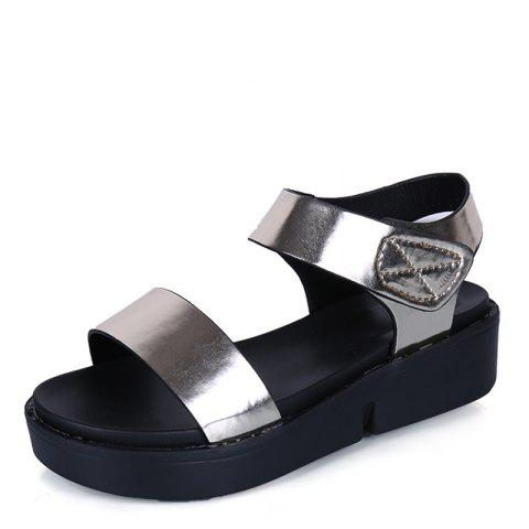Discount Summer Comfortable Flat Thick Bottom Velcro Joker Sandals