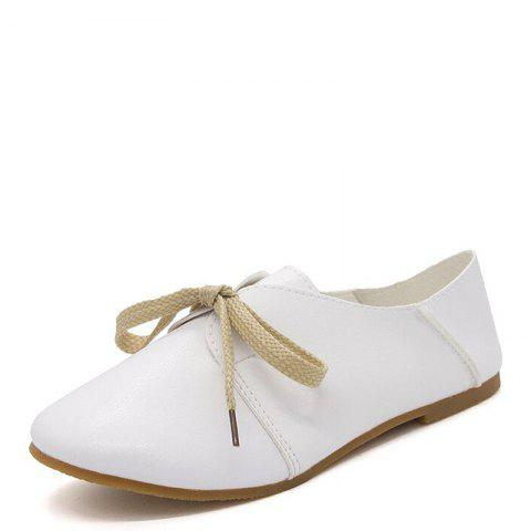 Store Ms Round Head Lace-Up Casual Shoes with Flat Sole